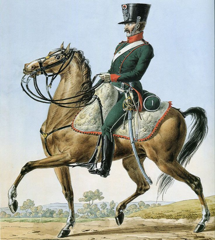 French Army 1812 by Vernet 1st Regiment of Chasseurs a Cheval