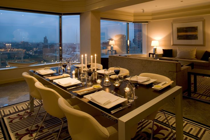 Luxury hotel accommodation at the Grand Hyatt Melbourne offers separate dining and living areas in suites.  #melbourne #suite