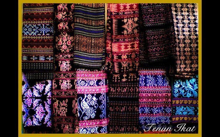 Traditional kain ikat timor, Indonesia.