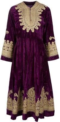 ShopStyle: Etnic Tailored Vintage tapestry design dress