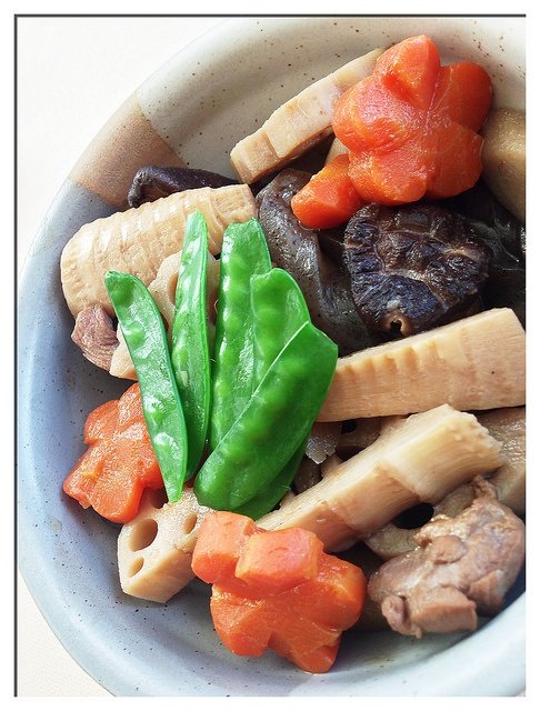 Japanese seasoned vegetables with chicken