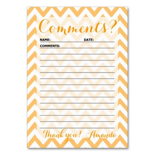 CHEVRON CUSTOMER COMMENT CARD LARGE BUSINESS CARDS (Pack OF 100)