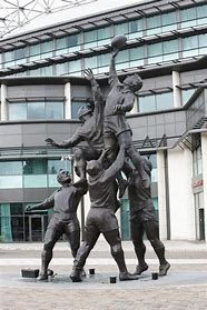 Image result for Twickenham rugby line-out sculpture