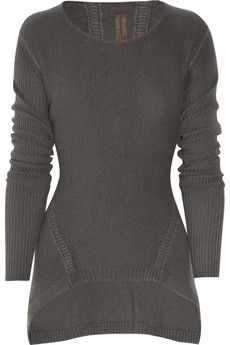 RICK OWENS  Knitted cashmere sweater.... a girl can dream, right? lol