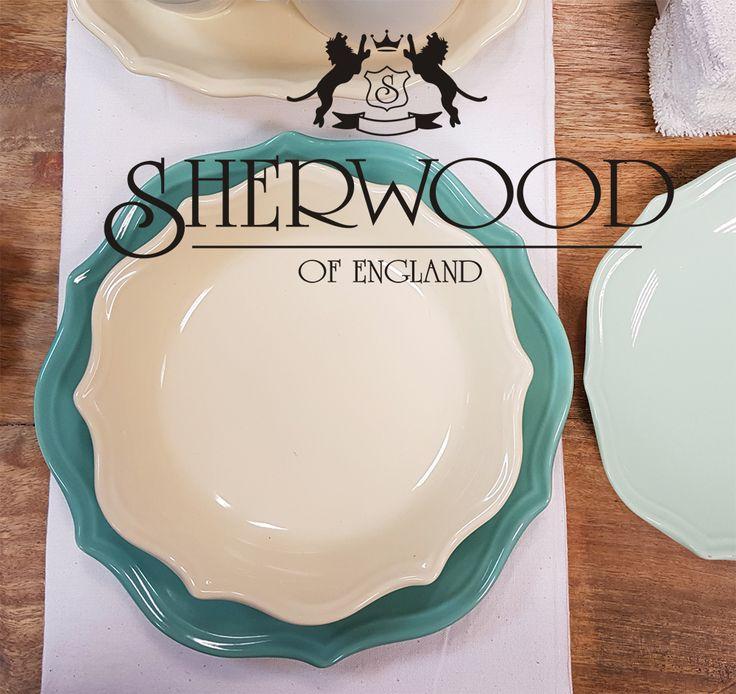 Romantico Stoneware Set tavola Romeo in colori pastello - Sherwood of England