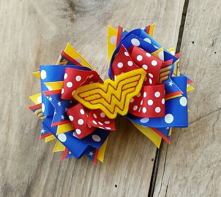 Wonder Woman Inspired Boutique Style Hair Bow by JuneBugsBows, $10.99