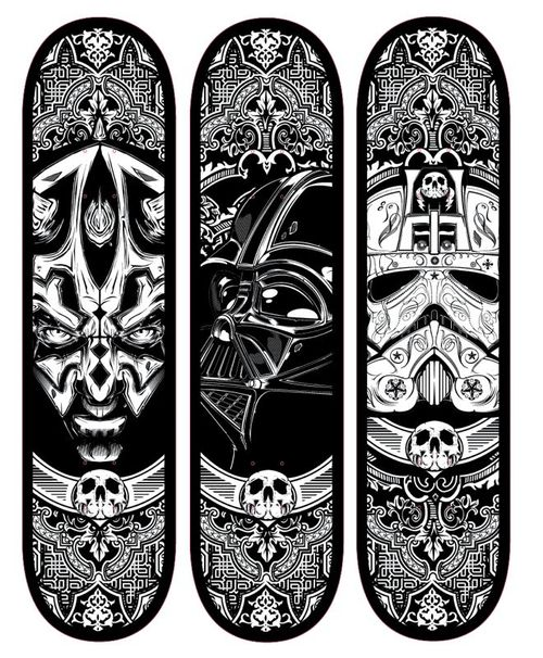 Star Wars Skateboard Decks by Joshua  Smith / Hydro74