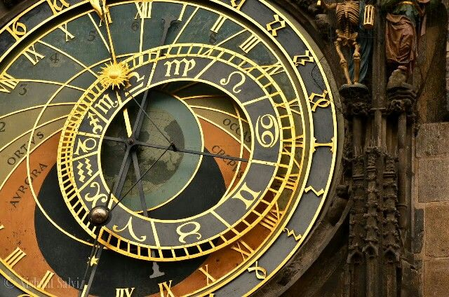 Astronomical clock, Prague, Czech Republic.