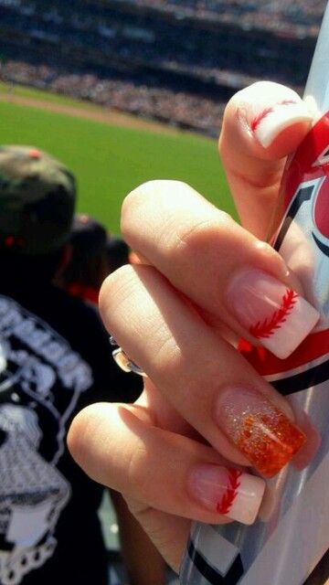 SF Giants nails https://www.facebook.com/shorthaircutstyles/posts/1759170721040034