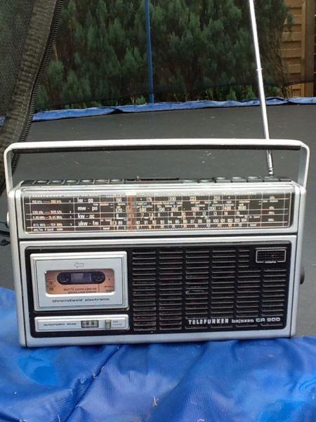 Schönes altes Kofferradio,Telefunken bajazzo CR 900 Radio Kassettenradio Kassettenrecorder in Nordrhein-Westfalen - Schloß Holte-Stukenbrock
