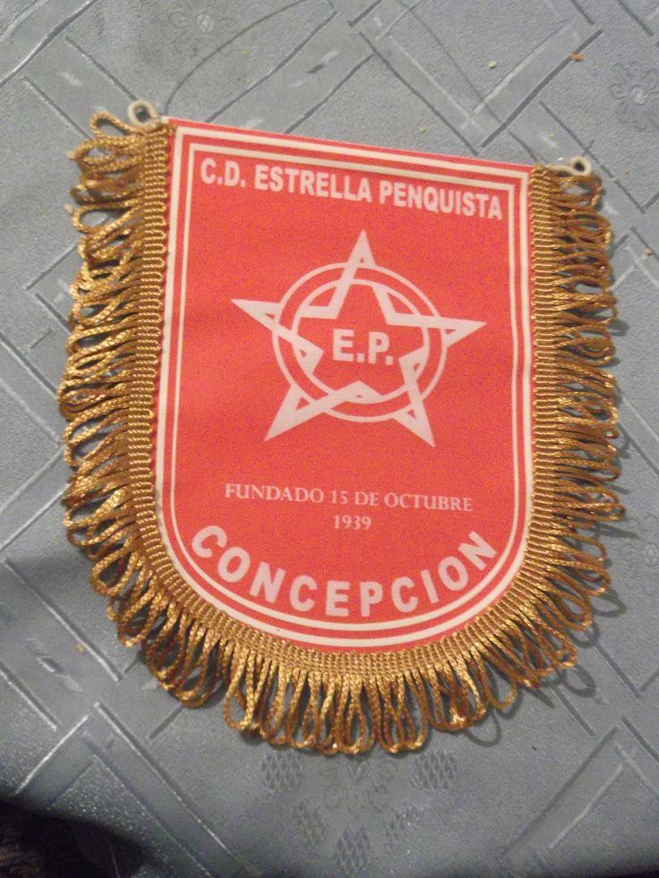 """ESTE ES EL ESTANDARTE E INSIGNIA DE NUESTRO CLUB """"DEPORTIVO ESTRELLA PENQUISTA DE CONCEPCION"""" FUNDADO EL 15 DE OCTUBRE DE 1939."""