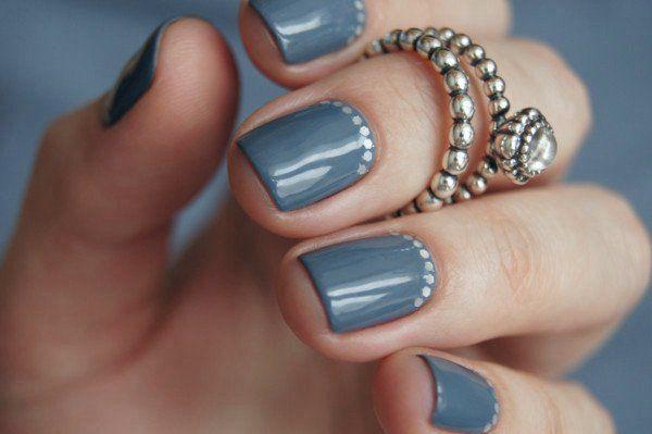Красивый свадебный маникюр на коротких ногтях