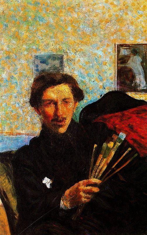 Nabis Art   - Umberto Boccioni - Self portrait - art