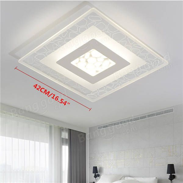 28w Modern Simple Square Acrylic Led Ceiling Lights Living Room