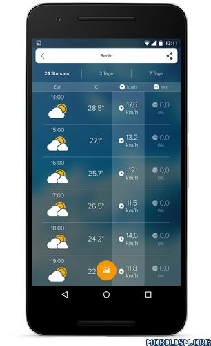 Morecast USA Weather & Radar v3.8.1 [Premium]Requirements: 4.0.3+Overview: MORECAST™ Premium Weather & Radar is your personal weather companion, that helps you prepare for upcoming Snow Storms, Rain and other severe weather conditions in USA...