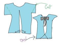 Wobisobi: Project Re-Style #32, Open back shirt.