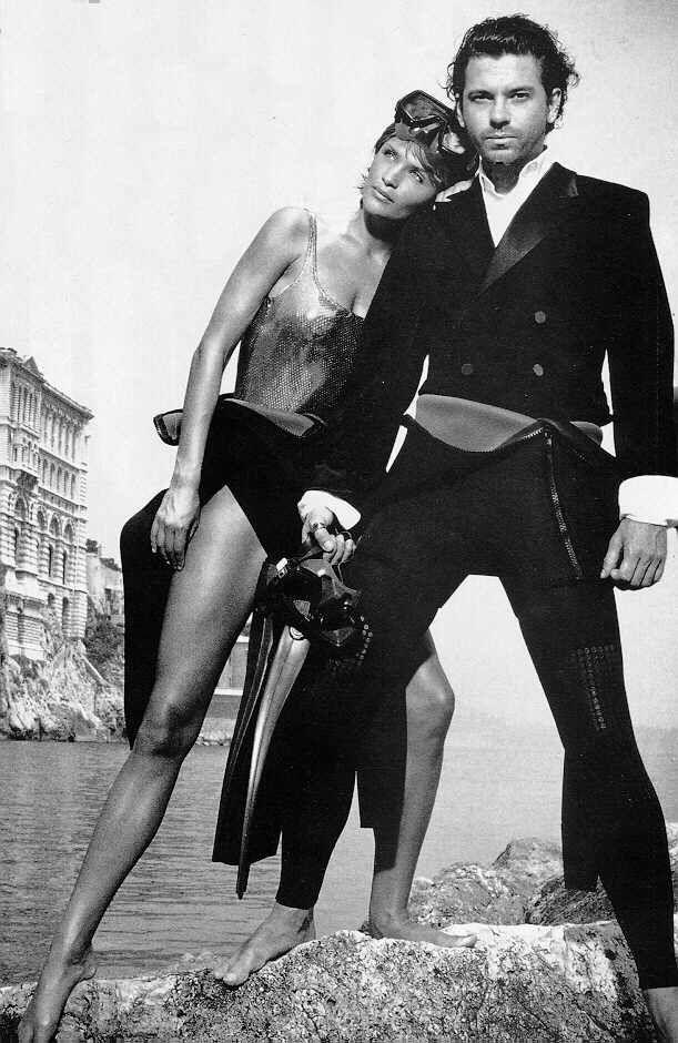 Helena Christensen y Michael Hutchence.