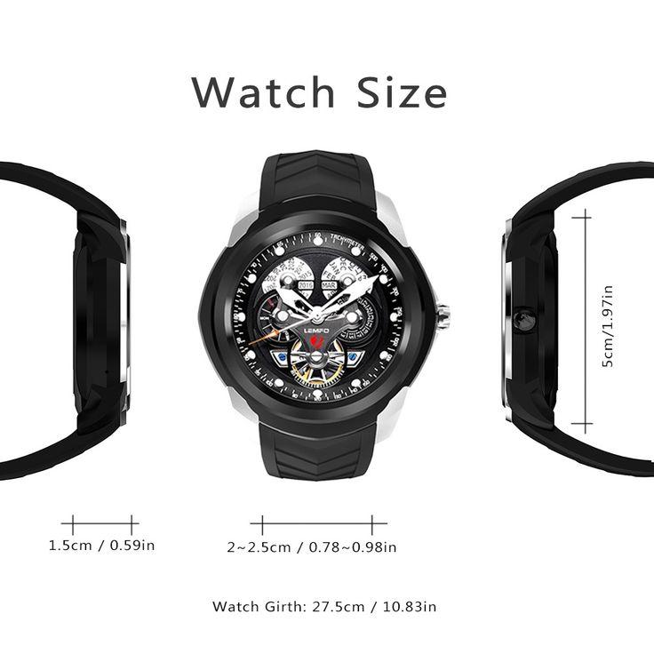 black LEMFO LF17 Smart Watch Phone ROM 4G + RAM - Tomtop.com