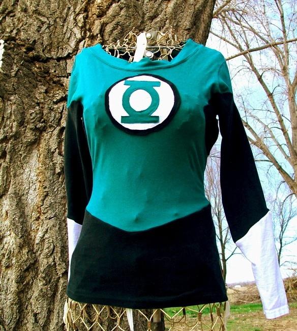 DIY Green Lantern shirt  #tutorial