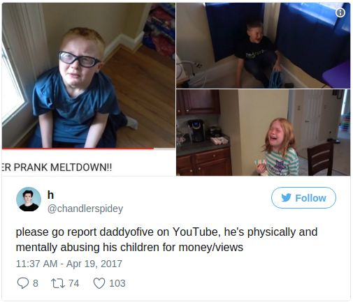A psychologist found that Michael and Heather Martin's children suffered 'mental injury' because of the viral 'kid pranks' videos made by their parents. The Maryland couple behind the viral YouTube 'prank' channel DaddyOFive were sentenced to five years of probation on charges of child neglect on Monday. Michael and Heather Martin had been charged with two counts each of child neglect after their 'kids prank' videos sparked outrage and allegations of child ...