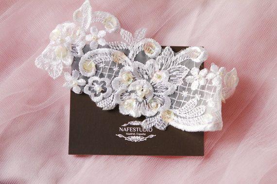Wedding Garter Bridal Garter Lace Garter  Lace by NAFEstudio