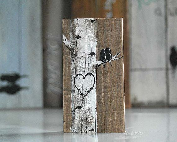 Rustic Wood Signs Love Gift Valentine Wood by LindaFehlenGallery