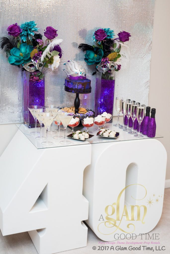 Incorporate Props For Your 40th Birthday Celebration A Glam Good Time 40th Birthday Decorations 40th Birthday Party Themes 40th Birthday Parties