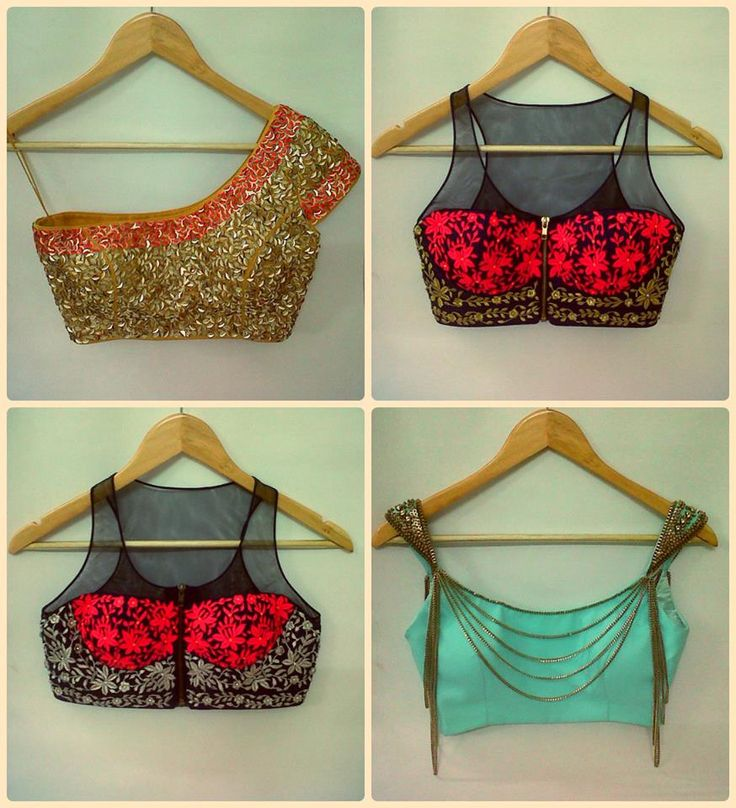 Stunning saree #blouse designs