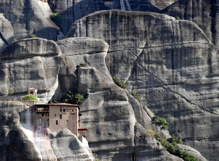 Holy Monastery of St Nicholas Anapausas in Meteora, Greece