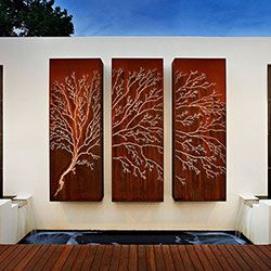 Back to Light Features A set of three Light Feature Panels featuring our Tree Laser Cut design was commissioned by MasterChef Australia. Originally inspired by our Tree Hand Cut design the Tree Laser Cut boasts a bolder image of the delicate tree.  A custom sized Light Feature Panel featuring the Lump Tree of