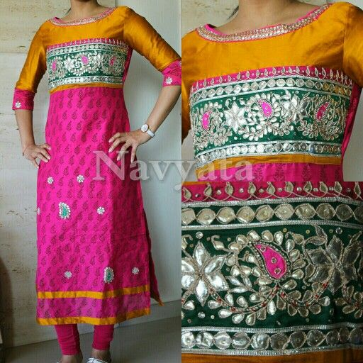 Fabric - Chanderi Work - Gota pati For further details contact us on + 919892398900, + 919930413660