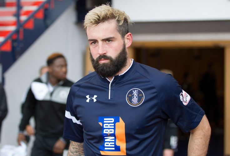 Queen's Park's Bryan Wharton before the Betfred Cup game between Queen's Park and Edinburgh City