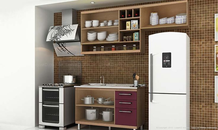 Cozinha Modulada Completa 3 Módulos Fruits Avelã/Maracujá/Açaí - Urbe Móveis | Lojas KD