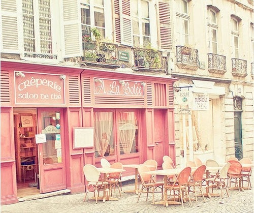 Paris cafe: Paris, Pink Cafe, Favorite Places, Dream, France, Travel, Space, Pretty