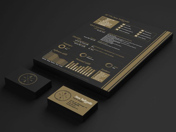 second resume design i have seen a classy gold and black look this year  is this a trend