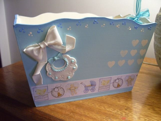 215 best images about cajas on pinterest madeira shabby - Cajas decoradas para bebes ...