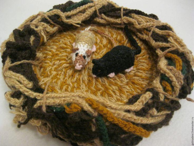 Купить СИАМСКИЕ КРЫСЯТА вязаные подарок заводчику декоративных крыс - комбинированный, крыса, крыска