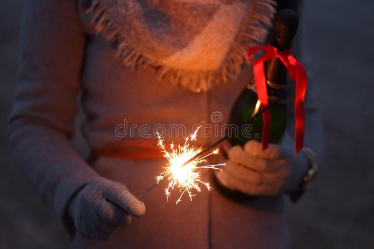 Person With Bottle Of Champagne And Sparkler Free Public Domain Cc0 Image
