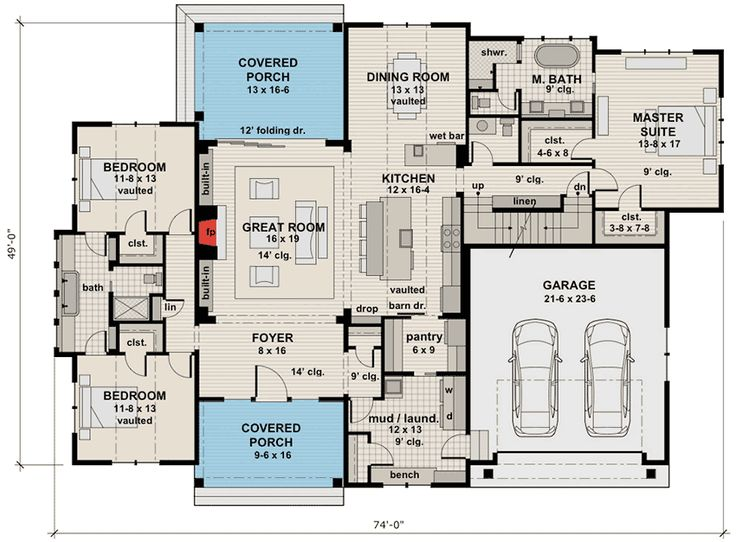 Handsome Rugged Craftsman with Future Space - 14657RK | 1st Floor Master Suite, Bonus Room, Butler Walk-in Pantry, CAD Available, Craftsman, Mountain, Northwest, PDF, Split Bedrooms | Architectural Designs