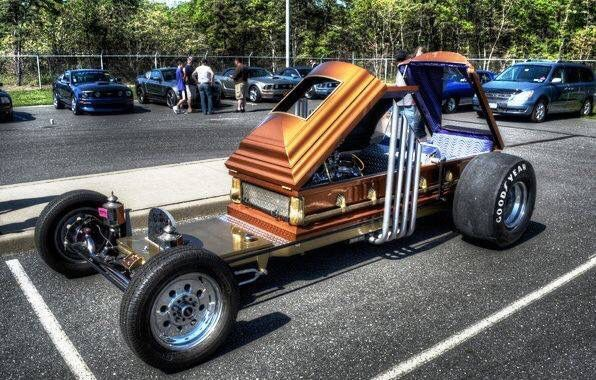 "I seen this pin labeled as ""coffin car""...this is Dragula people! Google it!"