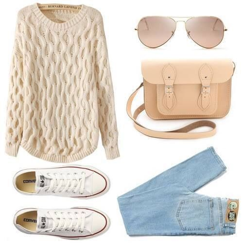 Image via We Heart It https://weheartit.com/entry/139321548/via/25498019 #casual #converse #cute #fall #fashion #love #outfits #simple #style #sweater
