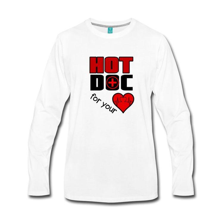 """Hot Doc for your Heart. Tolle Shirts und Geschenke für """"heisse"""" Ärzte. #doc #doctor #doktor #arzt #ärztin #ärzte #medizin #mediziner #fun #humor #sprüche #herz #liebe #gesundheitswesen #shirts #geschenke"""