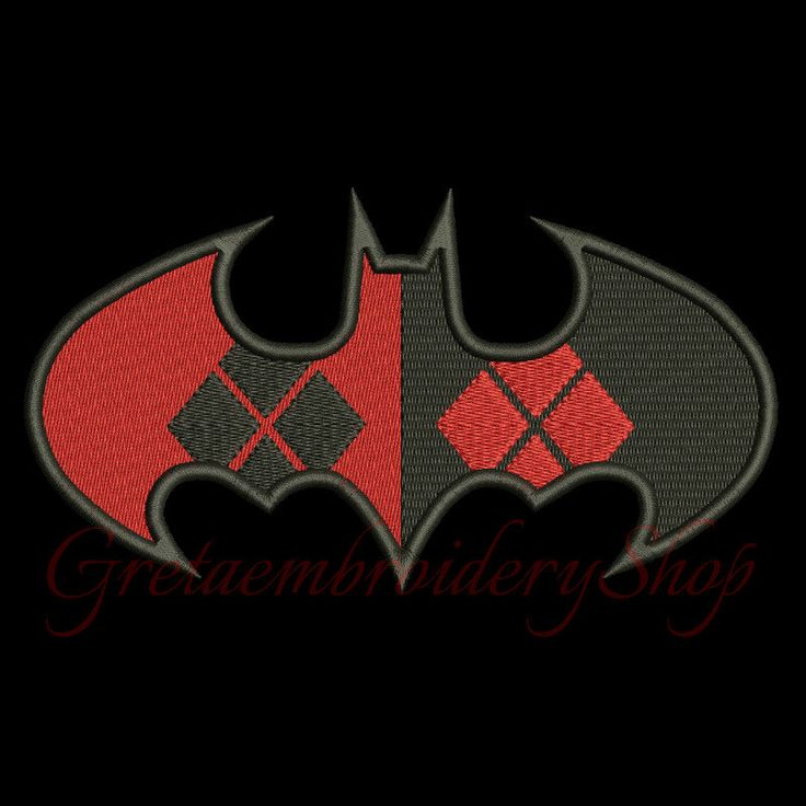 Batman Jolly embroidery designs,digital download,Batman logo embroidery,Joker design,Batman fill stitch design,Harley quinn logo embroidery by GretaembroideryShop on Etsy