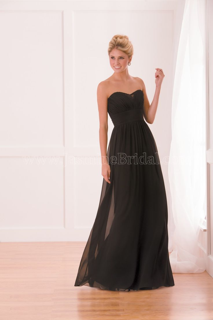 99 best jasmine bridemaids images on pinterest jasmine bridal this poly chiffon bridesmaid dress features the classic strapless sweetheart neckline and a line skirt silhouette but is spiced up with lace and ruching ombrellifo Images