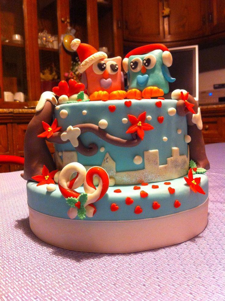 Shake the Cake: Gufetti innamorati in uno sfondo natalizio