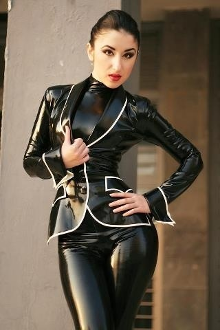 Latex Prisoner jacket! Awesome outfit <3