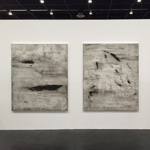 Another day, another art fair. No rest for the wicked ;-) Now on view at Art Cologne with The Hole in their shared boot with V1. #KasperSonne #VolcanicAshPaintings #ArtCologne