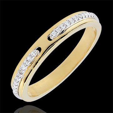 Anello Promesse - oro giallo e bianco - diamanti - versione sottile  http://it.edenly.com/anelli-sottili/anello-promesse-diamanti-oro-giallo-versione-sottile-9k,2670,7.html