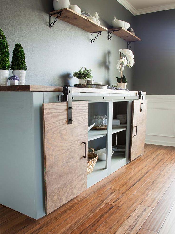Simple Tweaks for 3 Modern Farmhouse Furniture Projects: Grandy Sliding Door Buffet