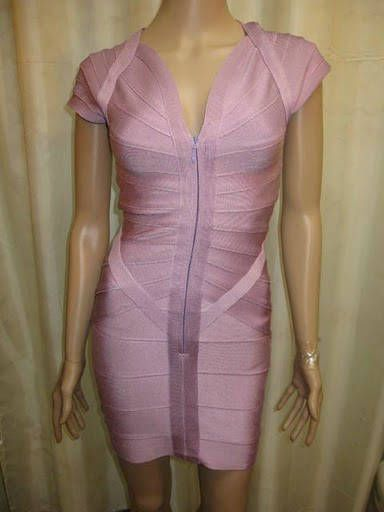 Herve Leger Couture Dress in Pink  $159.39